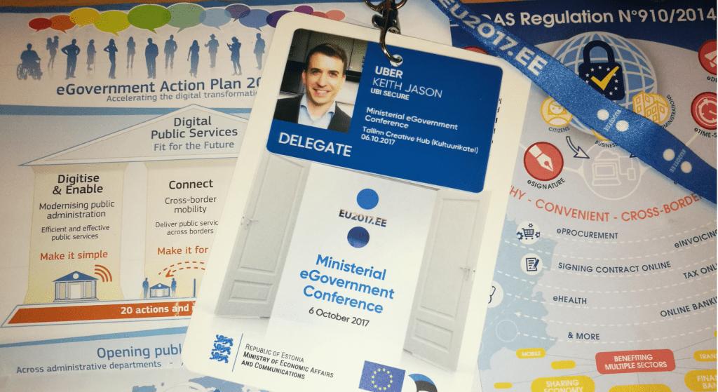 Name badge for Ministerial eGov Conference Tallinn